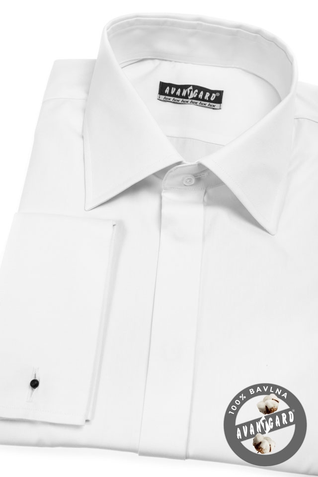 Pánská košile AVANTGARD LUX MK - Bílá 211ad4aed8