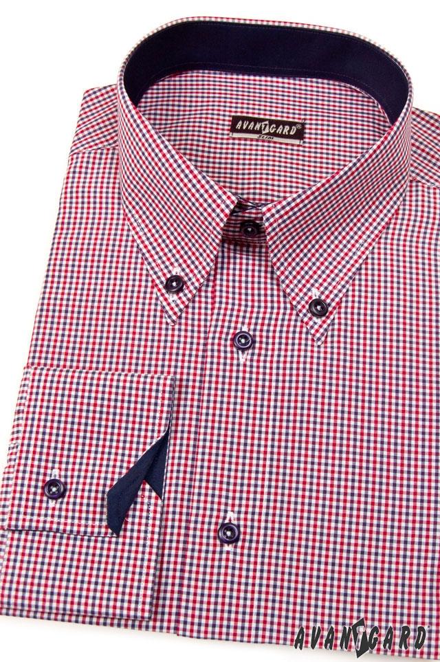 Pánská košile AVANTGARD SLIM dl. ruk. - Modrá edb2e1a6f1