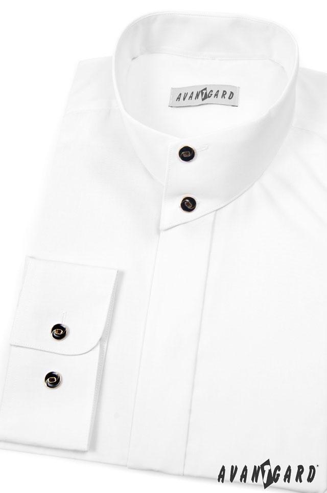 dcf18758ad2 Pánská košile se stojáčkem na 2 knoflíky